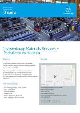 thyssenkrupp Materials Services − Podružnica za Hrvatsku O
