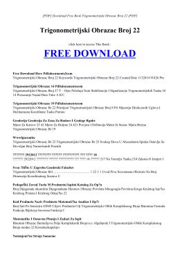 TRIGONOMETRIJSKI OBRAZAC BROJ 22 | Free