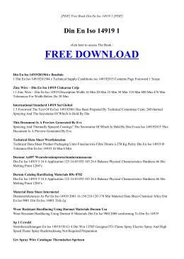 DIN EN ISO 14919 1 Free PDF
