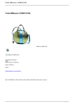 Torba MMissoni LD3BD15126L