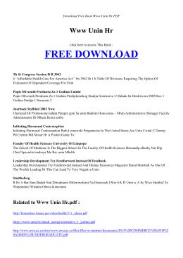 WWW UNIN HR | Free PDF Book