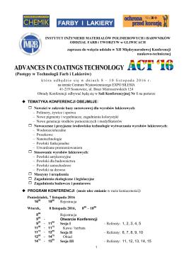 Zaproszenie do uczestnictwa - Instytut Inżynierii Materiałów
