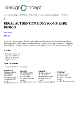 regał authentico honeycomp kare design