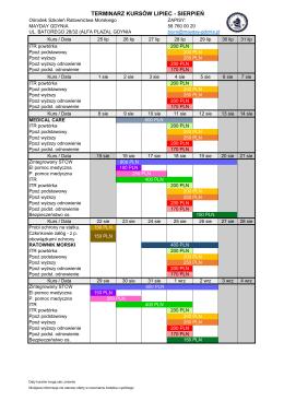 Sprawdź aktualny kalendarz kursów