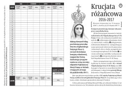 Pobierz tabelę do notowania - Bractwo Kapłańskie św. Piusa X