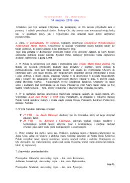 Ogłoszenia Parafialne - Makowarsko