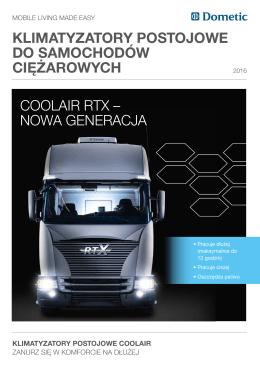 klimatyzatory postojowe do samochodów ciężarowych coolair rtx