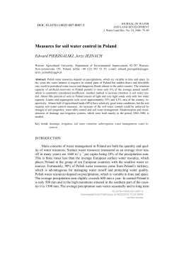 Measures for soil water control in Poland