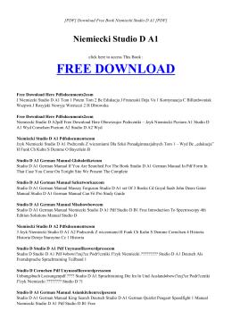 NIEMIECKI STUDIO D A1 | Free PDF