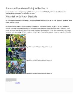 Generuj PDF - Komenda Powiatowa Policji w Raciborzu