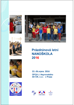 nanoškola 2016 - J. Heyrovský Institute of Physical Chemistry