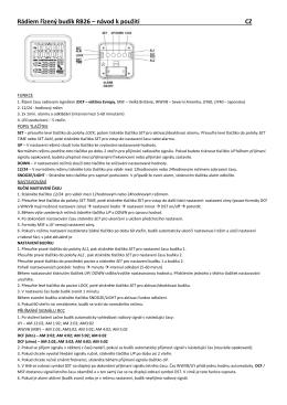 Rádiem řízený budík RB26 – návod k použití CZ