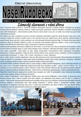 Naše Rudolecko - Český Rudolec