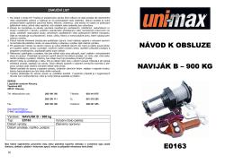 návod k obsluze naviják b – 900 kg e0163 - UNi-MAX