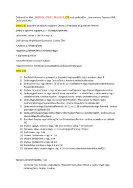 Změnový list XML_ FOREIGN_CREDIT_TRANSFER_CZF proti