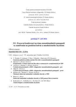 program - Česká společnost klinické biochemie