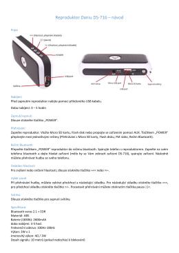 Reproduktor Daniu DS-716 – návod