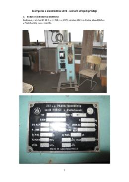 Klempírna a elektrodílna LSTB