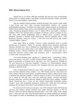 RNDr. Martin Čajánek, Ph.D.