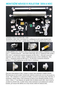 Nový montážní návod pro rolety DEN A NOC - ZEBRA-shop