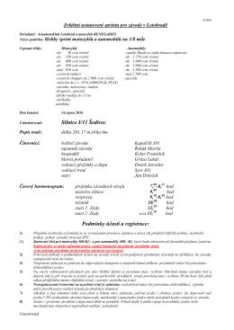 Silnice I/11 Šedivec Podmínky účasti a registrace