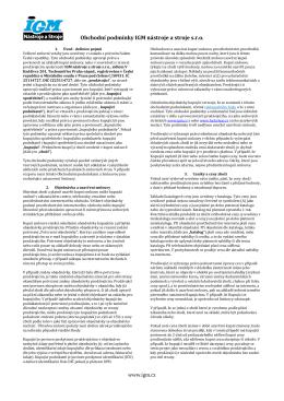 Obchodní podmínky IGM nástroje a stroje s.r.o.