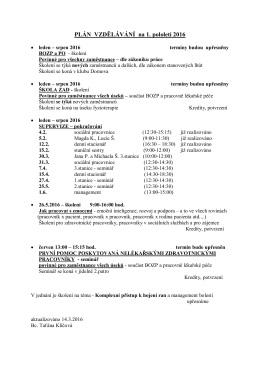 Plán vzdělávání v PDF