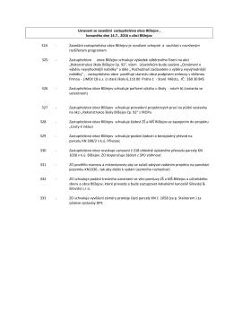Usnesení ze zasedání zastupitelstva obce Blížejov , konaného dne