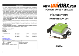 přenosný mini kompresor 204 as204 - UNi-MAX