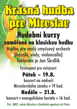 Miroslav plakát Krásná hudba pro Miroslav.indd
