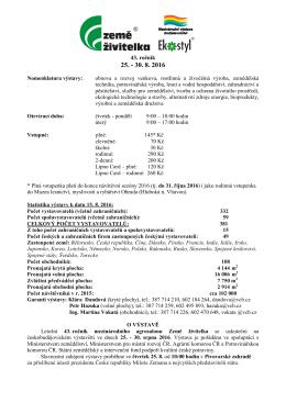 Tisková zpráva České Budějovice - Výstaviště České Budějovice as