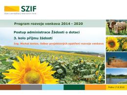 Prezentace k postupu administrace ŽoD_3.kolo příjmu žádostí PRV