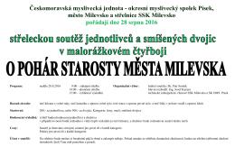 Střelecká soutěž Milevsko 2016