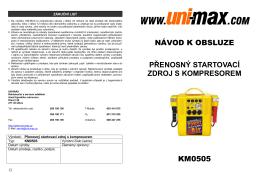 návod k obsluze přenosný startovací zdroj s - UNi-MAX