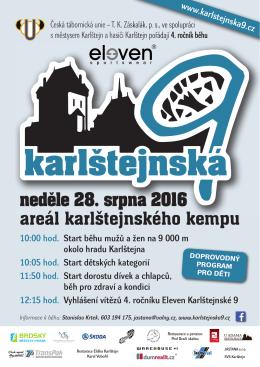 Plakát na závod v PDF