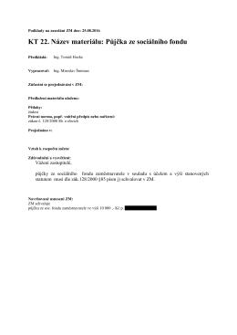KT 22. Název materiálu: Půjčka ze sociálního fondu