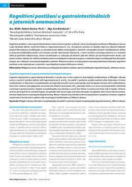 Kognitivní postižení u gastrointestinálních a jaterních