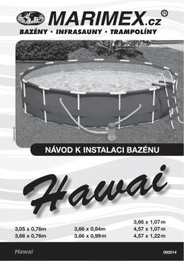 Návod k bazénu Hawai
