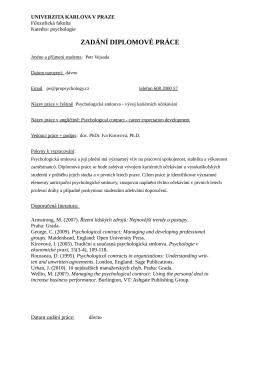 PDF ke stažení - Psychologická smlouva