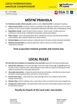 místní pravidla