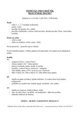 Informace pro rodiče žáků 3 - Základní škola Josefa Suka a MŠ
