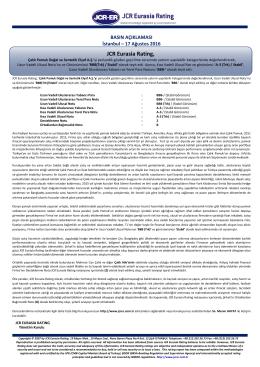 JCR Eurasia Rating, Çalık Pamuk Doğal ve Sentetik Elyaf A.Ş.