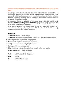 ATO`da THY Adana Kargo Müdürlüğü Bilgilendirme Toplantısı