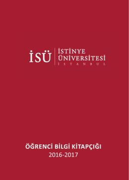 istinye üniversitesi Öğrenci bilgi kitapçığı.cdr