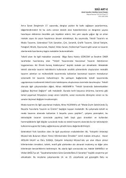 SDÜ ART-‐E - DergiPark
