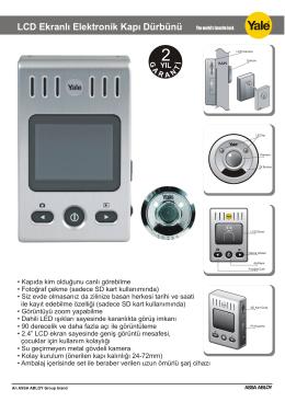 LCD Ekranlı Elektronik Kapı Dürbünü