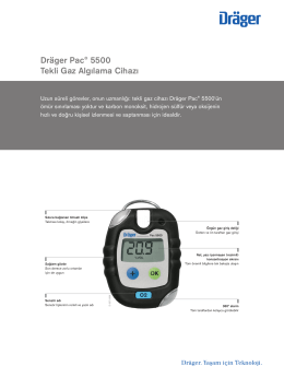 Dräger Pac® 5500 Tekli Gaz Algılama Cihazı