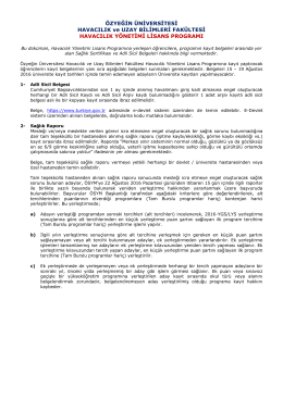 sağlık testleri ve adli sicil belgeleri