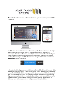 Site Kullanımı
