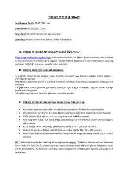 türkçe yeterlik sınavı - BYS